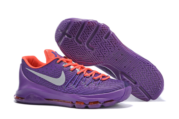Nike Kevin Durant 8 Purple Orange Shoes
