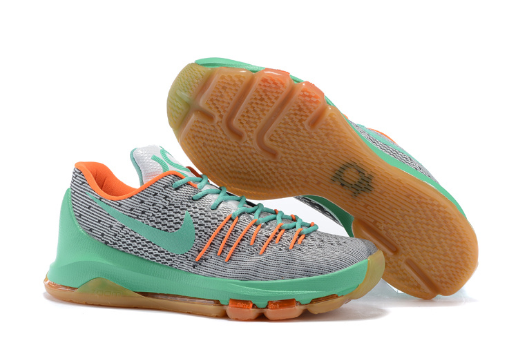 Nike Kevin Durant 8 White Green Orange Shoes