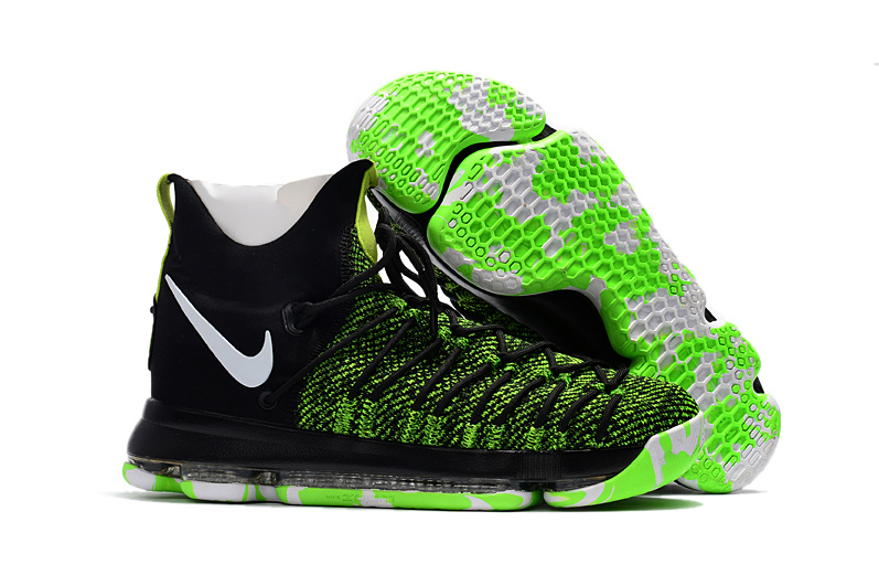 Nike Kevin Durant 9 Elite Green Black White Shoes