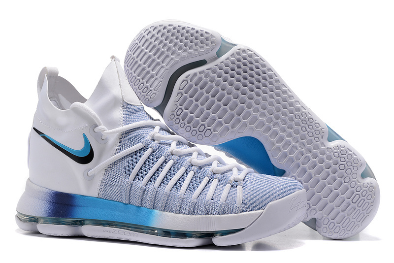 Nike Kevin Durant 9 Elite White Blue Shoes