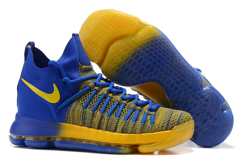 Nike Kevin Durant 9 Elite Yellow Blue Shoes
