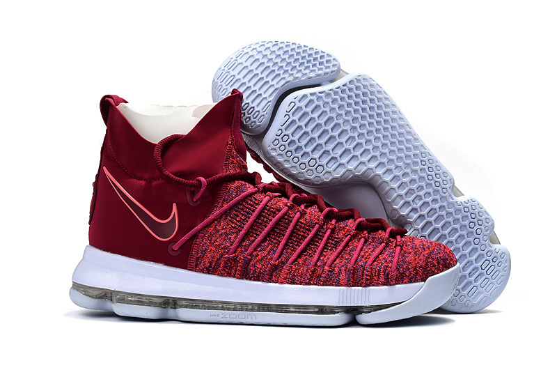 Nike Kevin Durant 9 Wine Red White Shoes