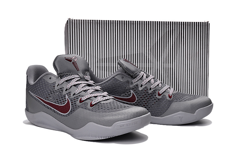 Nike Kobe 11 EM Grey Wine Red Shoes