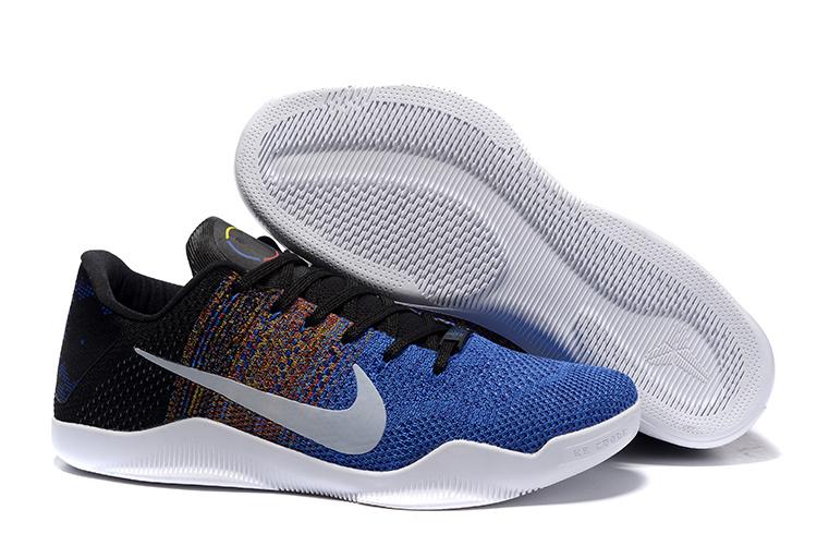 Nike Kobe 11 Knit Elite Blue Black White Shoes