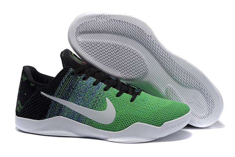 Nike Kobe 11 Knit Elite Green Black White Shoes