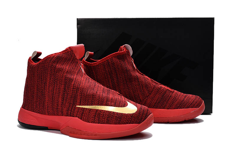 Nike Kobe 11 Lifestyle Knit Red Gold Casual Shoes