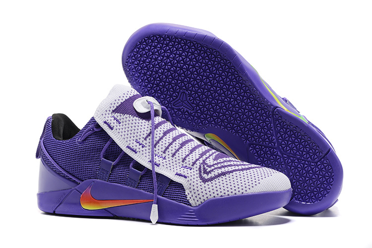 Nike Kobe 12 NXT Flyknit White Purple Shoes
