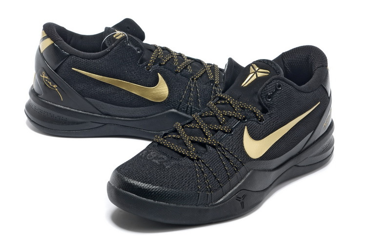 Classic Nike Kobe Bryant 8 Elite Playoff Black Gold