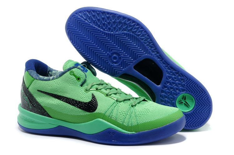 Classic Nike Kobe Bryant 8 Elite Playoff Green Blue
