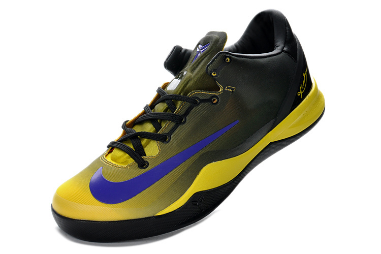 Nike Kobe 8 System MC Mambacurial FB Black Yellow Blue Shoes