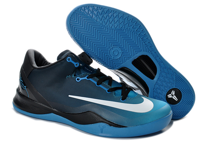 Nike Kobe 8 System MC Mambacurial FB Blue Black White Shoes
