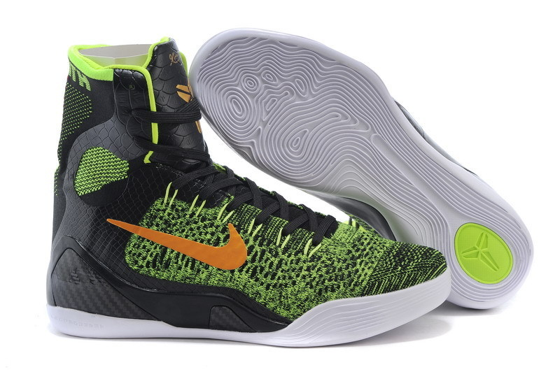 Nike Kobe 9 High Knit Green Black Shoes