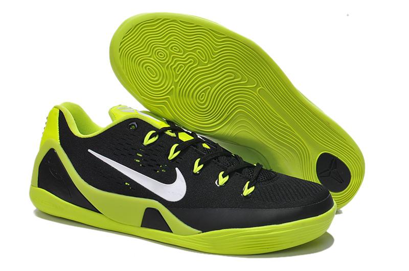 e79e237718e1 Authentic Nike Kobe Bryant 9 Low Black Green Basketball Shoes For Sale