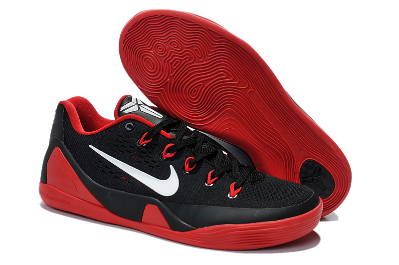 Nike Kobe Bryant 9 Low Black Red Basketball Shoes