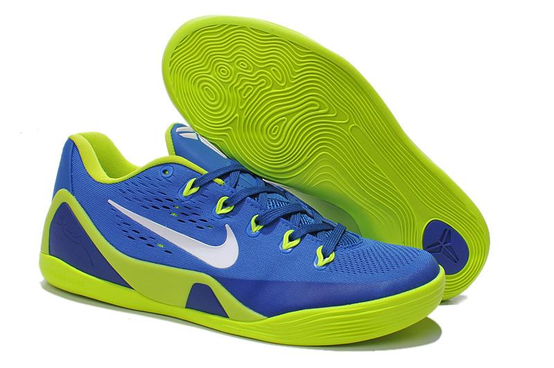 Nike Kobe Bryant 9 Low Blue Green Basketball Shoes