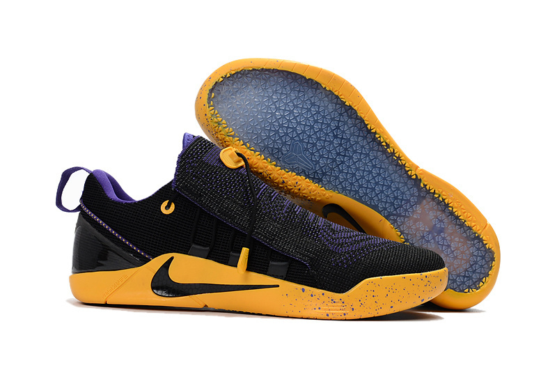 Nike Kobe A.D. NXT Flyknit Black Yellow Purple Shoes
