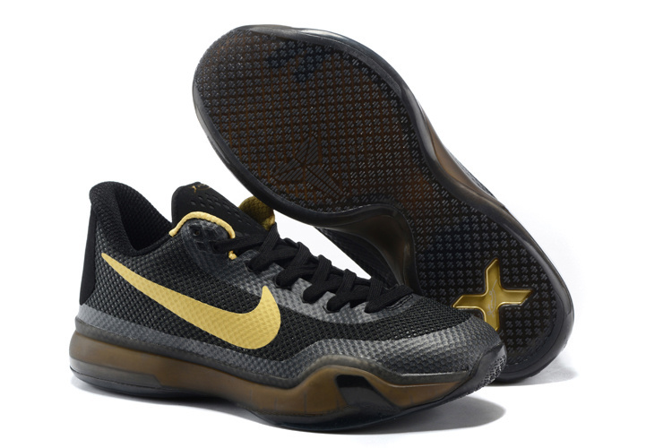 Nike Kobe Bryant 10 Black Gold Shoes