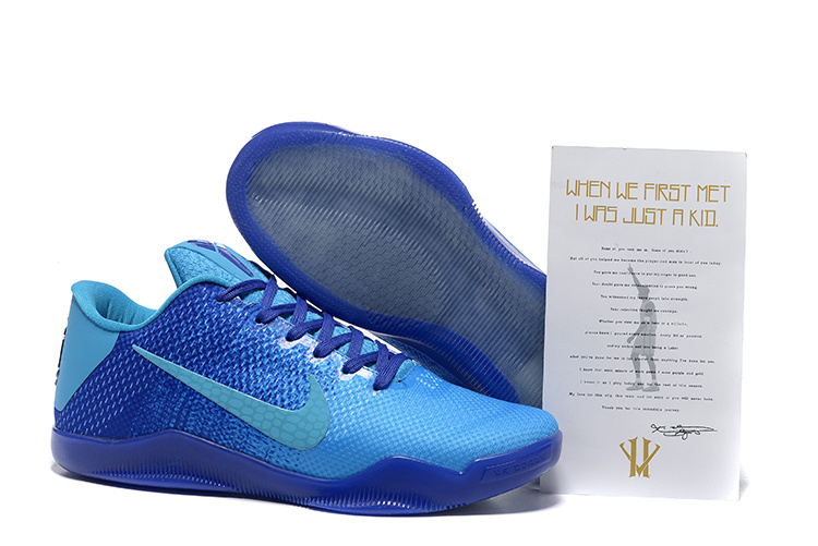 Nike Kobe Bryant 11 All Blue Shoes