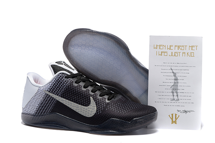 Nike Kobe Bryant 11 Black White Shoes