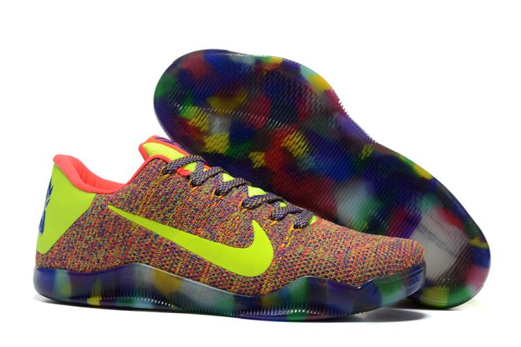 Nike Kobe Bryant 11 Elit Colorful Volt Shoes Shoes
