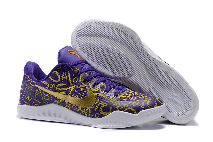 Nike Kobe Bryant 11 Elite Purple Gold Shoes