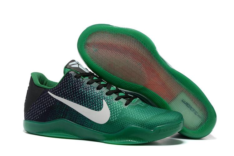 Nike Kobe Bryant 11 Green Black White Shoes