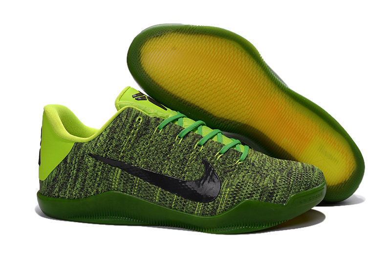 Nike Kobe Bryant 11 Knit Grass Green Black Shoes