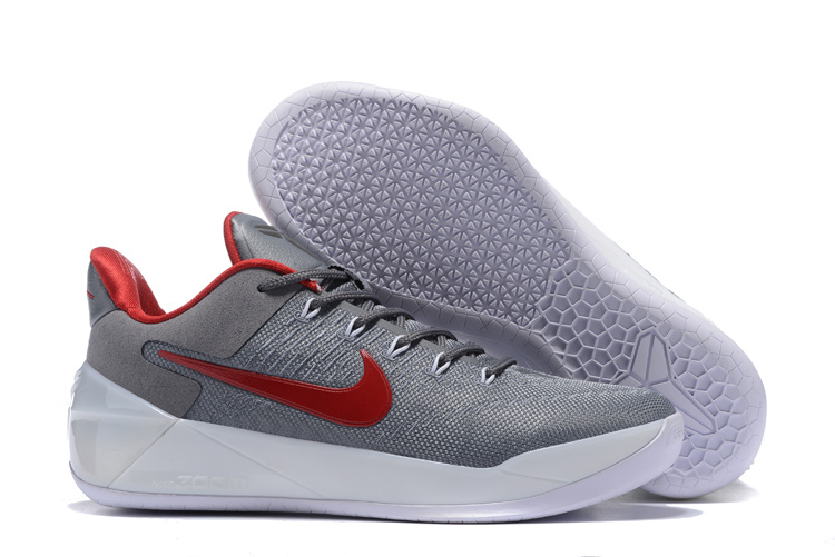 Nike Kobe Bryant 12 A.D Grey Red Shoes