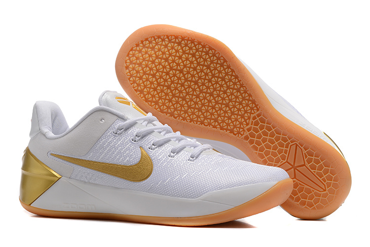 Nike Kobe Bryant 12 A.D White Gold Yellow Shoes