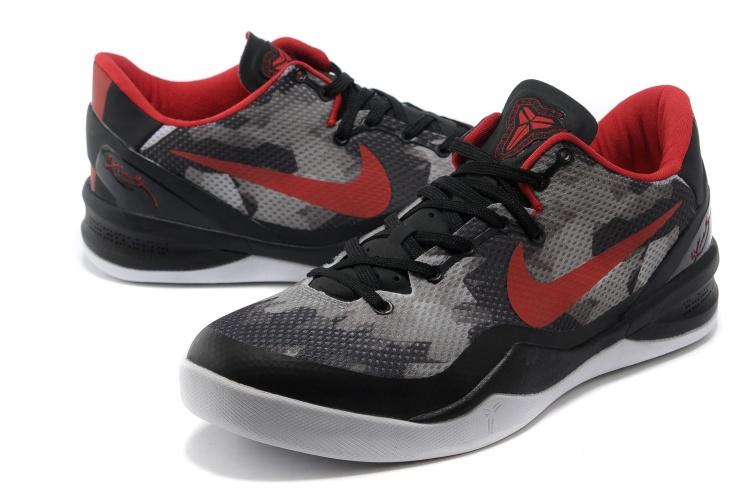 Nike Kobe 8 Grey Black Red