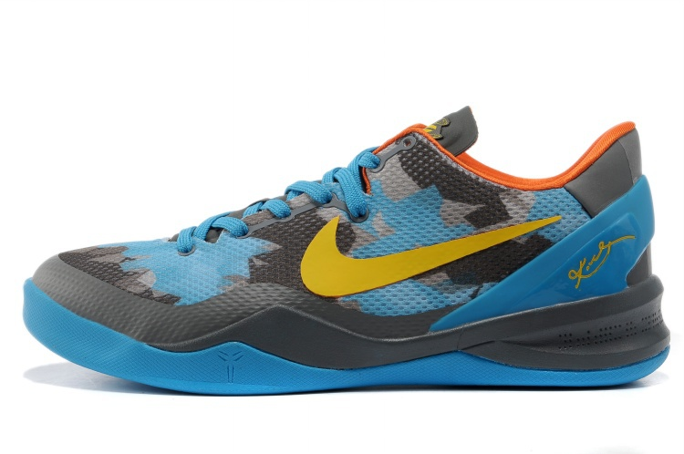 Nike Kobe 8 Grey Blue Yellow
