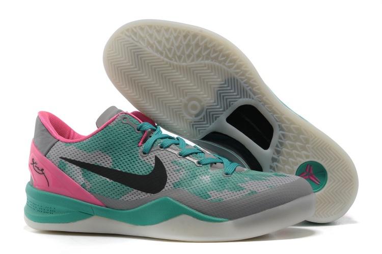 Nike Kobe 8 Grey Green Pink