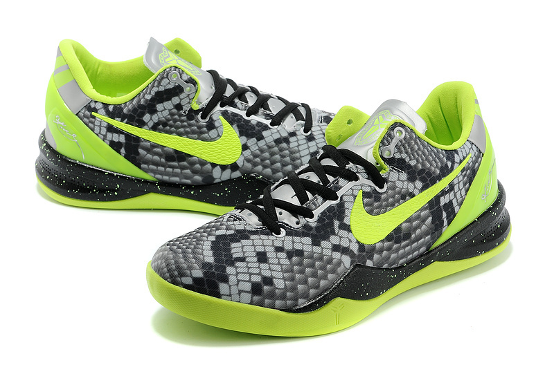 Nike-Kobe-Bryant-8-RattleSnake-Grey-Green-Shoes