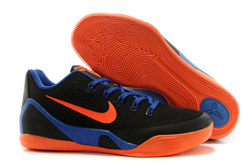 Nike Kobe Bryant 9 Low Black Blue Orange Shoes