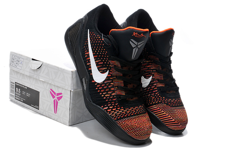 Nike Kobe Bryant 9 Low Black Dark Orange Shoes