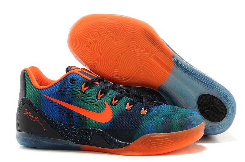 Nike Kobe Bryant 9 Low Black Green Blue Orange Shoes