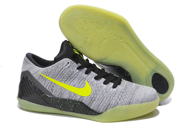 Nike Kobe Bryant 9 Low Grey Black Yellow Shoes