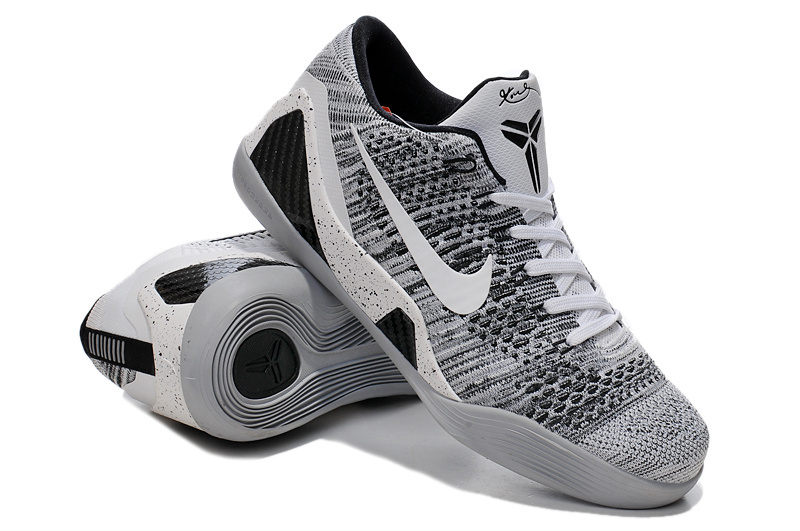 Nike Kobe Bryant 9 Low Grey White Black Shoes