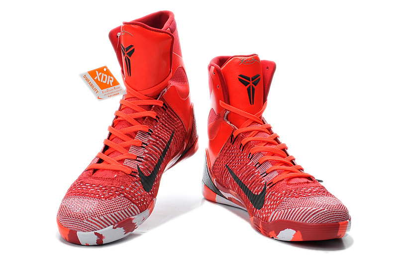 the best attitude 51679 bfbf9 Nike Kobe Bryant 9 High Christmas Red Shoes