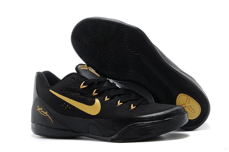 Nike Kobe Bryant 9 Low Black Gold For Women