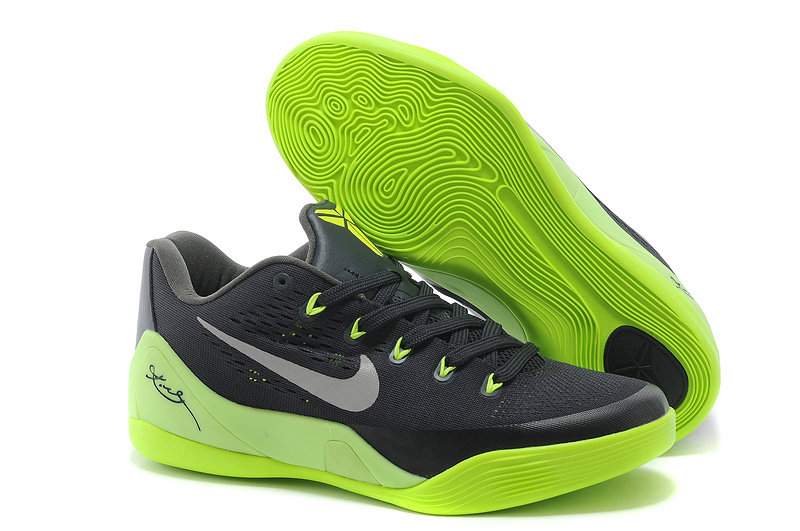Nike Kobe Bryant 9 Low Black Green Shoes