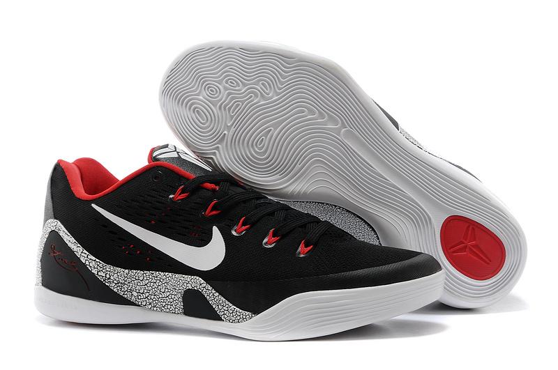 sale retailer 22399 e951d Nike Kobe Bryant 9 Low Black Red White For Women