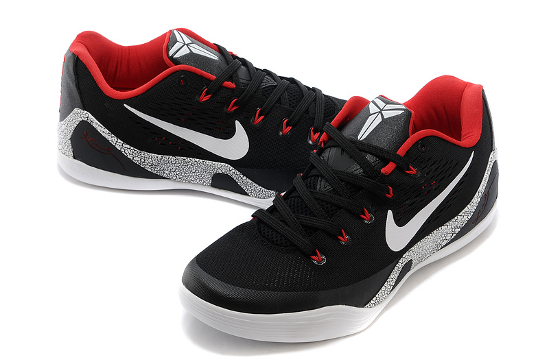 timeless design 74f14 2c72d kobe 9 black and wight low