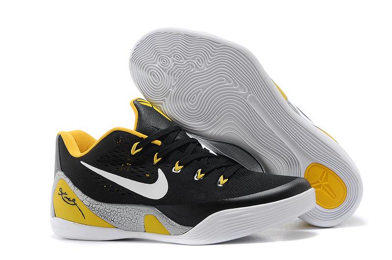 Nike Kobe Bryant 9 Low Black Yellow White For Women