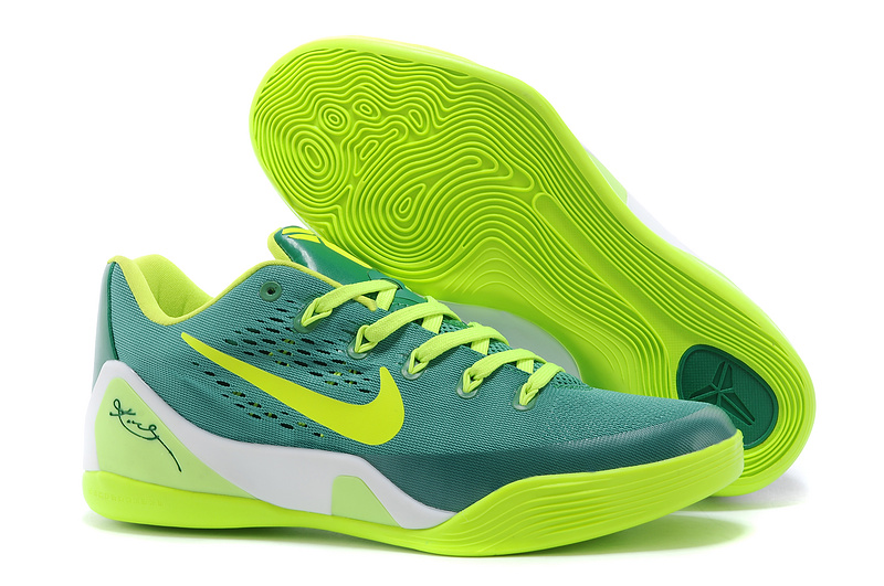 Nike Kobe Bryant 9 Low Green Fluorscent White Shoes