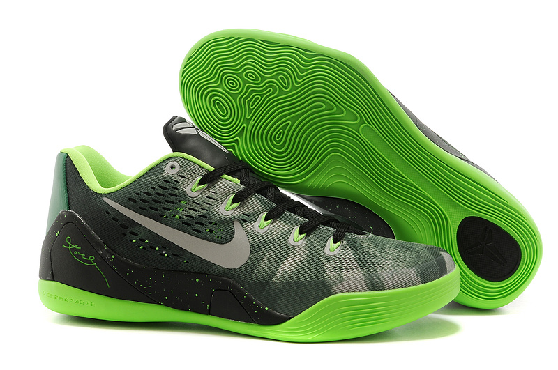 Nike Kobe Bryant 9 Low Grey Black Green Shoes