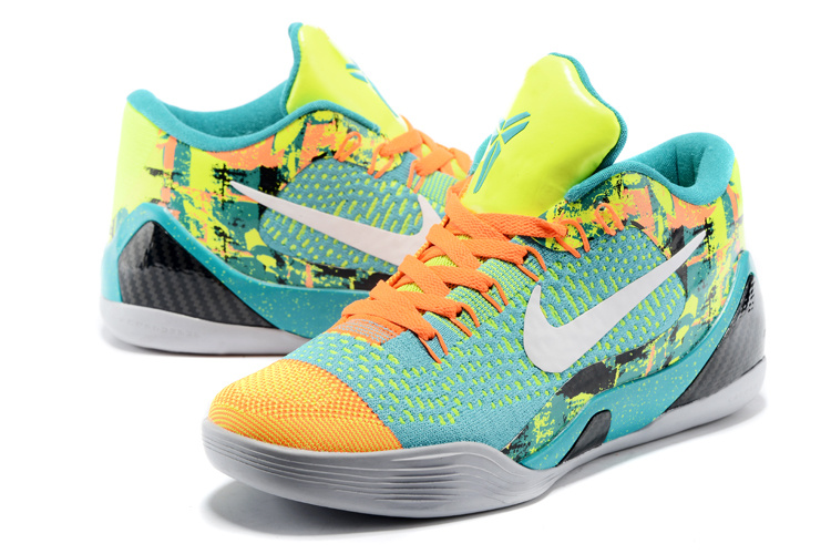 Nike Kobe Bryant 9 Low Knit April Fool Day Green Orange Grey Black Shoes