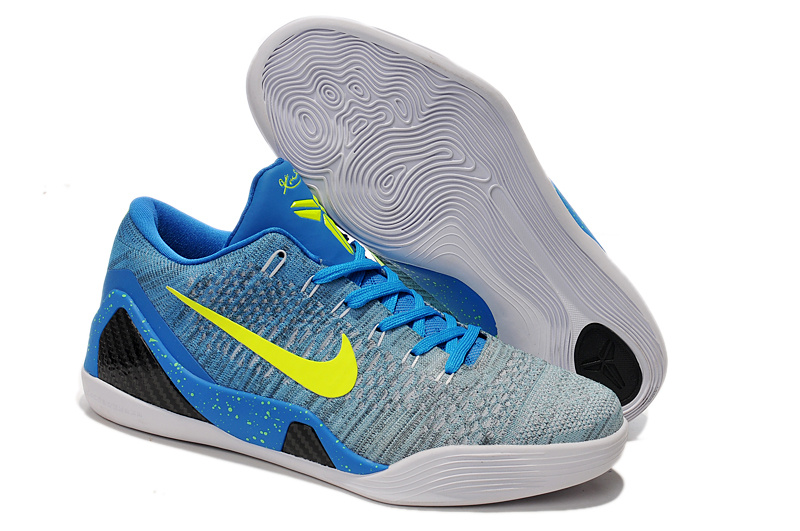 Nike Kobe Bryant 9 Low Knit Grey Blue Black Shoes