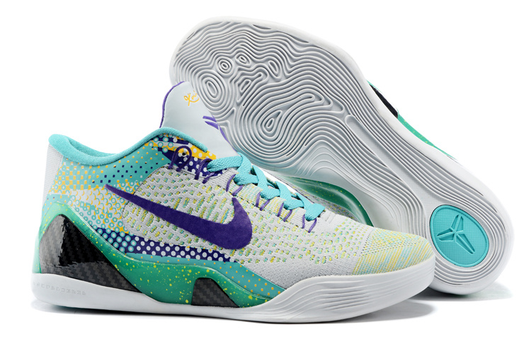 Nike Kobe Bryant 9 Low Knit Grey Green Blue Shoes