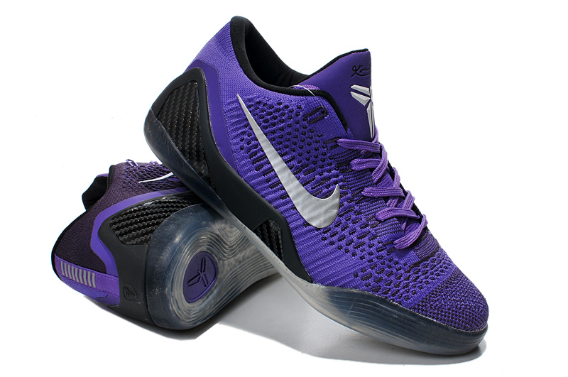 Nike Kobe Bryant 9 Low Knit Purple Black Shoes